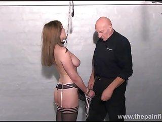 Amateur slave Taylors dungeon domination and kinky tit bdsm