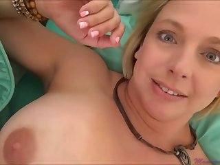 Brianna Beach is a huge-boobed platinum-blonde nymph who is oftentimes providing word-of-mouth jobs to much junior studs