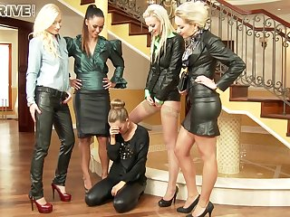 Gorgeous And Naughty Five Lesbians Feel sorry O - Angela Christin