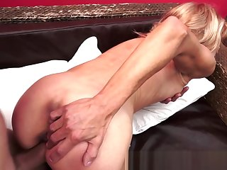 Cocksucking granny gets her pussy drilled