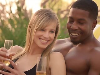 Cheating whisper suppress luvs seeing his wifey fellating treacherous sausage in bi-racial threeway pornvideo