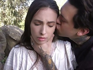 Submissive whore Casey Calvert is plighted and mouthfucked really hard