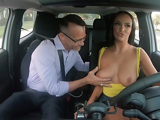 Awesome Caucasian beauty Sofi Ryan uses her chunky boobs for titjob
