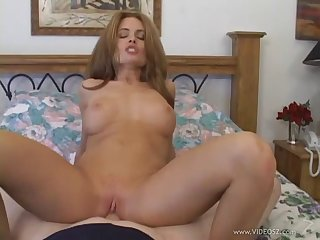 Cock sucking chick enjoys getting her pussy banged and tits jizzed