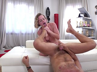 Valentina R gets her mouth and ass destroyed by a long shaft