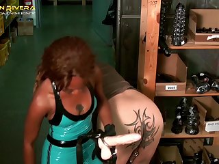 Carmen Rivera added to will not hear of friend use a strapon to fuck submissive dude