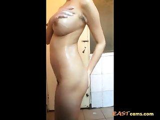 Chinese bosomy bitch shower