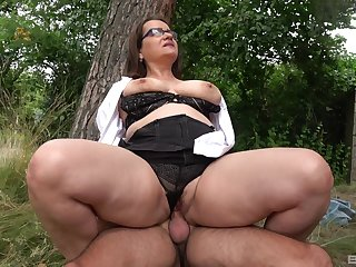 Ass, Big ass, Big tits, Blowjob, Cum, Mature, Outdoor, Riding, Tits,