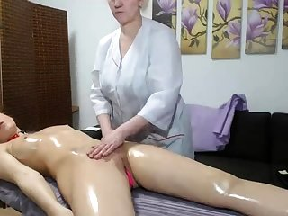 OldNanny Age-old full-grown lesbian and full-grown unspecified masturbate