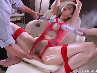 Kinky video of Japanese pet Saryuu Usui object pleased unconnected with 3 dudes