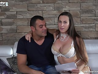 Busty Czech pornstar finally fucks an experienced man
