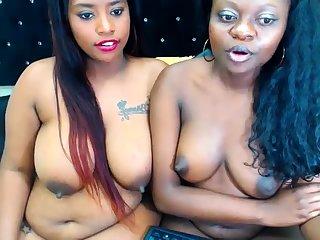 Ebony Lesbian Vibrator Shacking up Other Lesbian Enduring