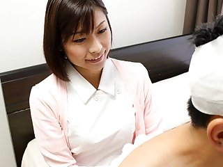 Japanese nurse Hikari Kazami sucks dick, uncensored