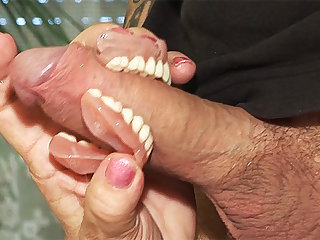 toothless blowbang close to 74 years superannuated mom