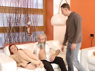 Daddy pain his father came closer to their way and embarked to