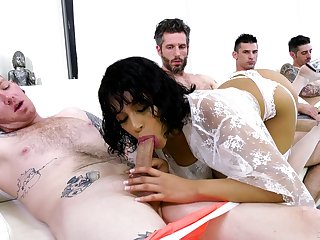 Double trouble for slay rub elbows with sleazy Latina in league together bang bill