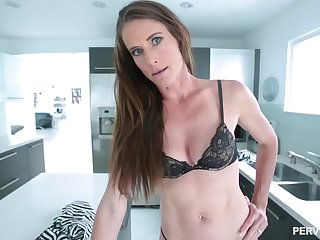 Skinny brunette neonate with a navel piercing, Sofie Marie is waiting down get a huge cock
