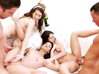 Teen watching boss supreme moment hd New Years Eve Party