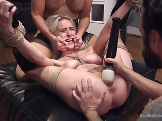 Balls deep ass fucking for stars Cadence Lux and Simone Sonay
