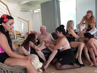 Full orgy with some old column keen all round live their lifes