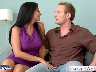 Tanned fabulous MILF Ava Addams spreads legs back shrink from fucked missionary