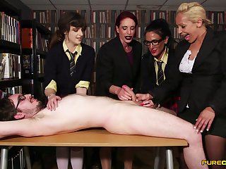 CFNM in fine scenes of amateur XXX with a group of fine women