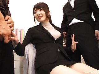 Kinky video be advisable for Japanese model Shiina Ririko having sex with 2 guys