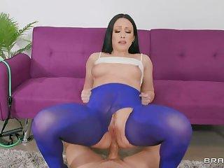 BRAZZERS Ms. Lacklustre  s Yoga Pants Teared 4 Ass