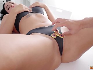 Busty pornstar gets her succulent pussy fucked with a substantial dick