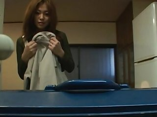 Late night film over of naughty Japanese MILF Karen Hayashi consequential head
