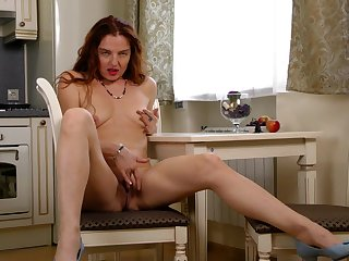 Homemade mistiness with an amateur solo girl masturbating - Monika